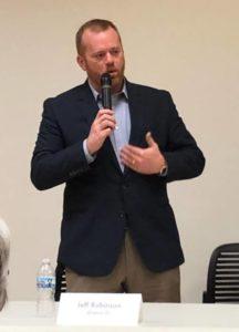Jeff Speaks at Muncie Resists Candidate Forum
