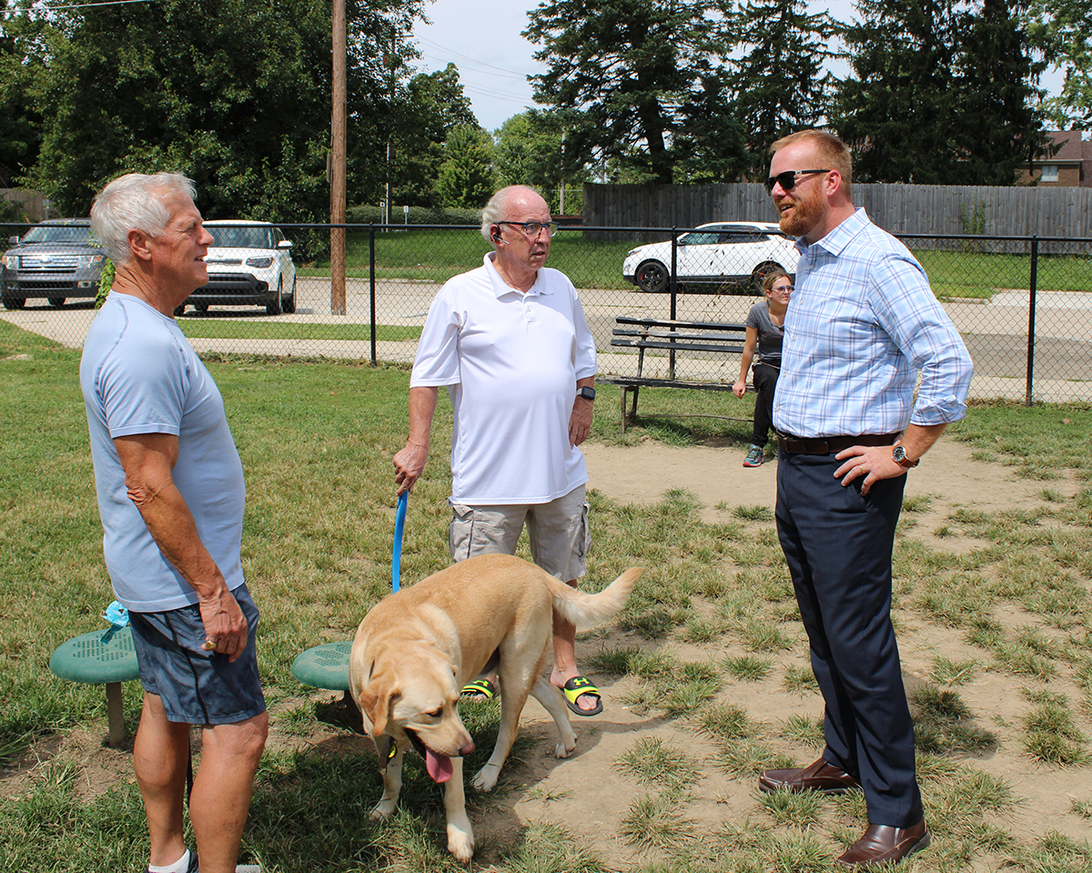 Jeff Meets Neighbors at Emerson Dog Park